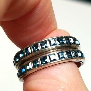 """Brighton """"SPECTRUM"""" Swarovski Crystal 2-Ring Set!!"""